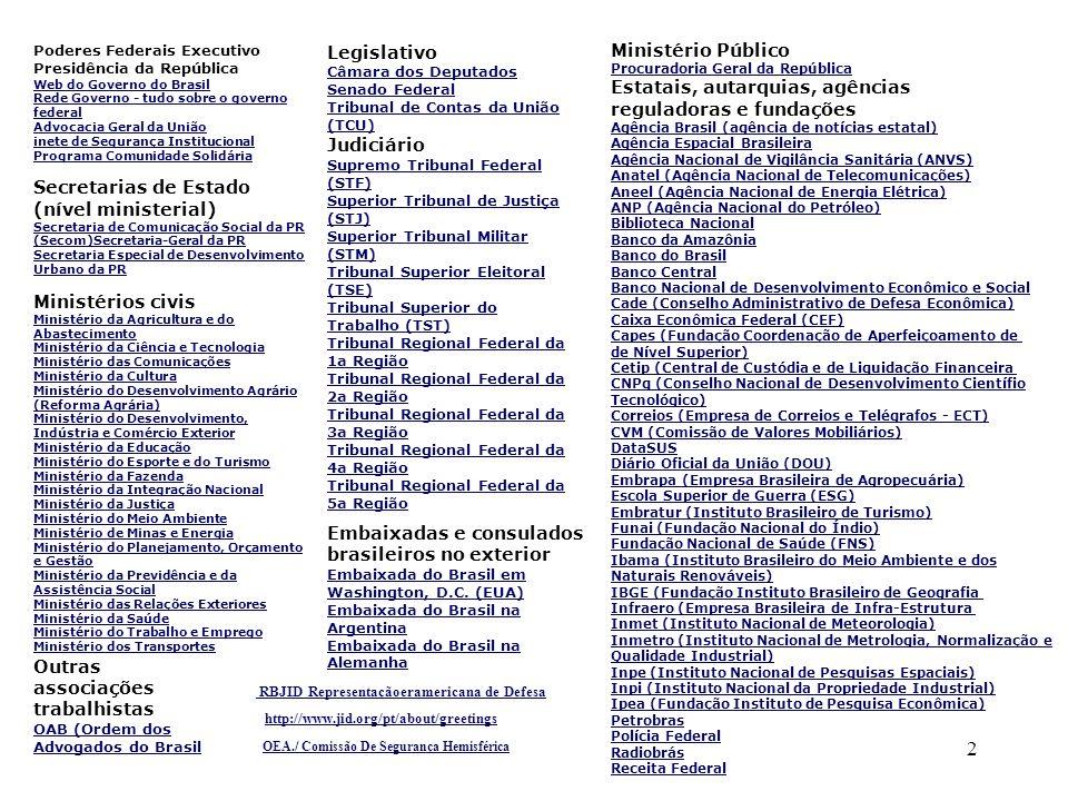 Outras associações trabalhistas OAB (Ordem dos Advogados do Brasil