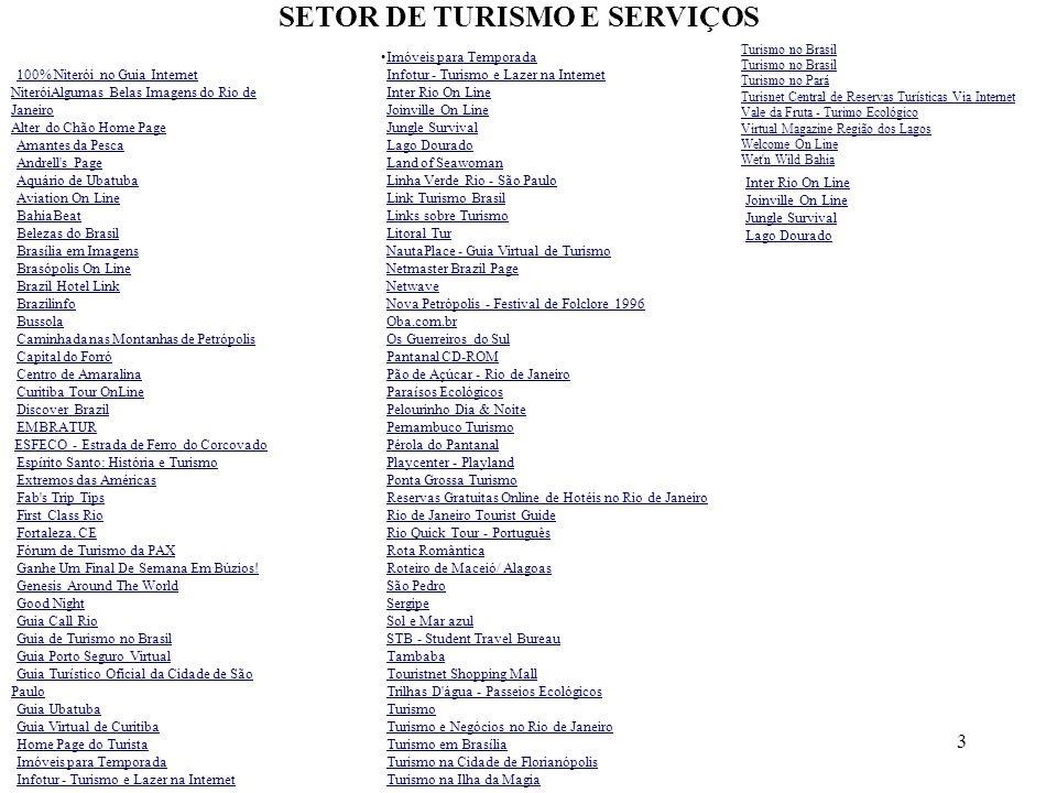 SETOR DE TURISMO E SERVIÇOS