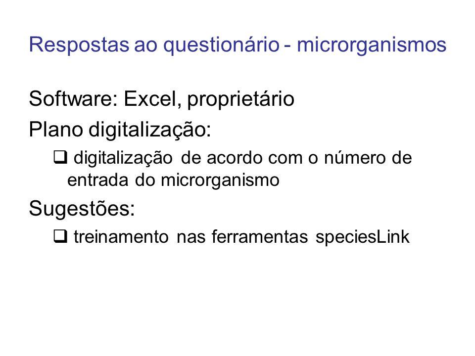 Respostas ao questionário - microrganismos