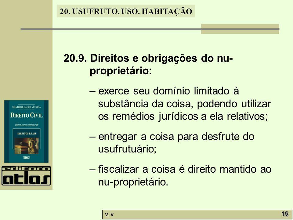 20.9. Direitos e obrigações do nu-proprietário: