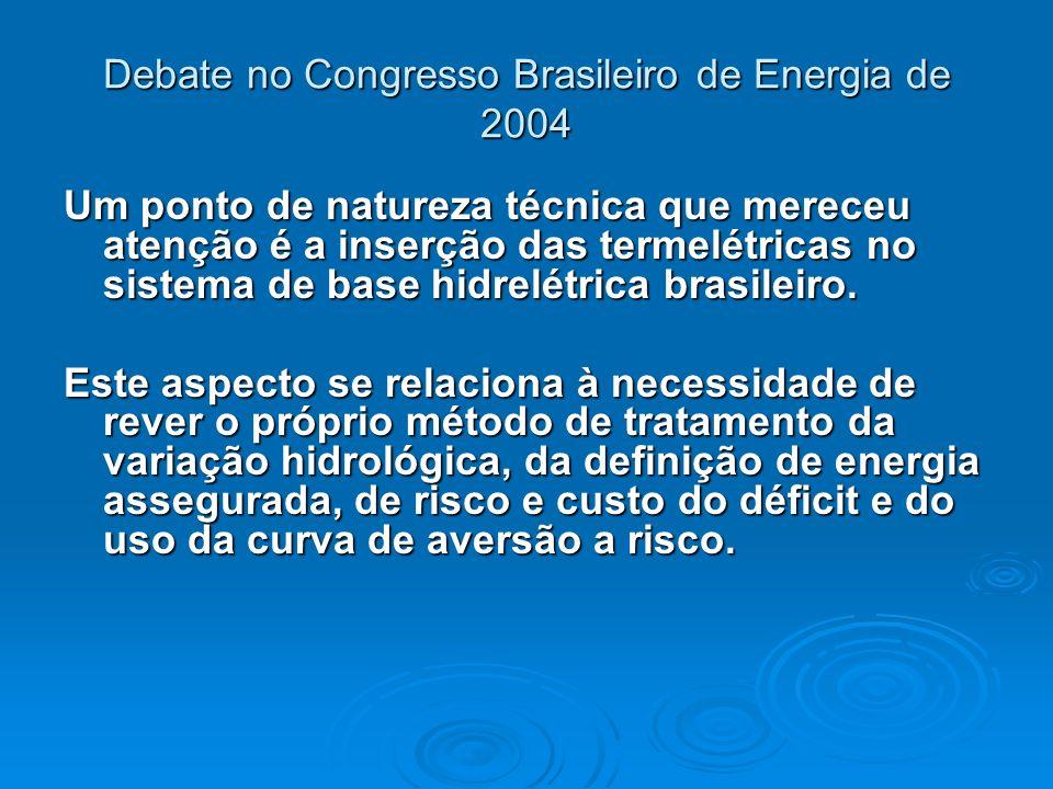 Debate no Congresso Brasileiro de Energia de 2004