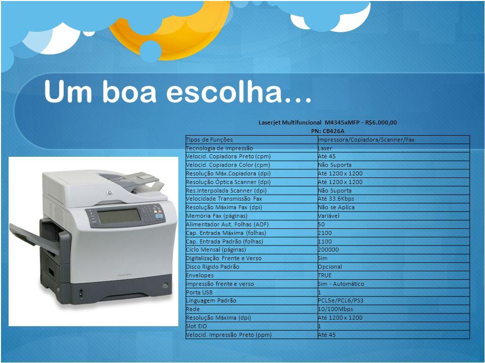 Laserjet Multifuncional M4345xMFP - R$6.000,00