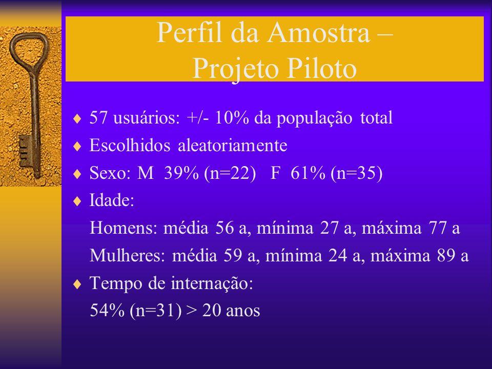 Perfil da Amostra – Projeto Piloto