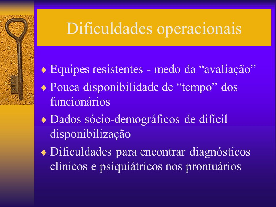 Dificuldades operacionais