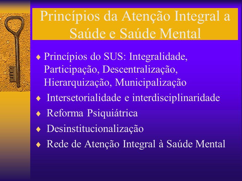 Princípios da Atenção Integral a Saúde e Saúde Mental