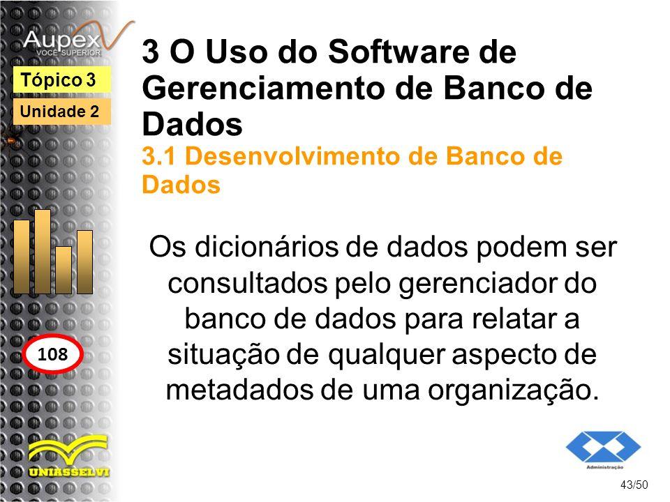 3 O Uso do Software de Gerenciamento de Banco de Dados 3