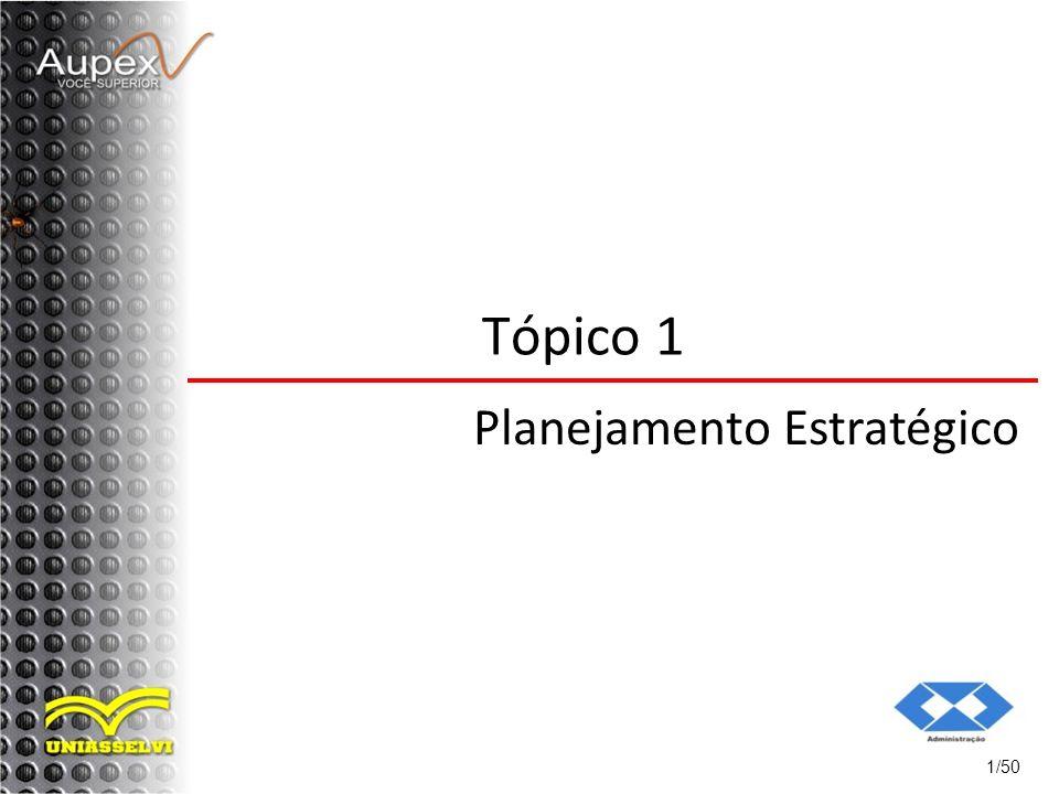 Tópico 1 Planejamento Estratégico 1/50