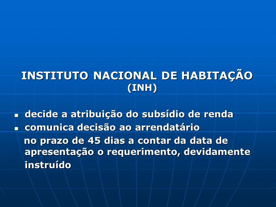 INSTITUTO NACIONAL DE HABITAÇÃO (INH)