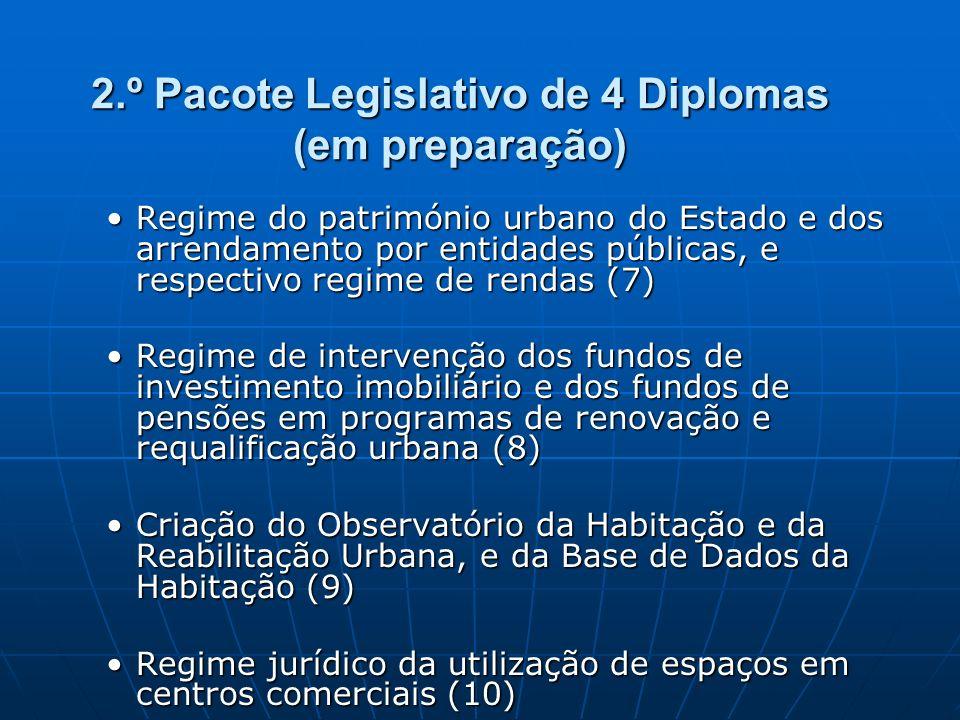2.º Pacote Legislativo de 4 Diplomas (em preparação)