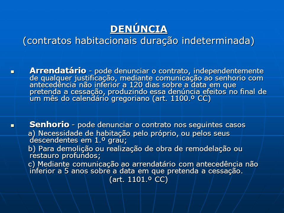 (contratos habitacionais duração indeterminada)