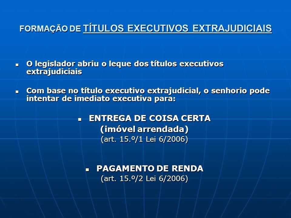 FORMAÇÃO DE TÍTULOS EXECUTIVOS EXTRAJUDICIAIS
