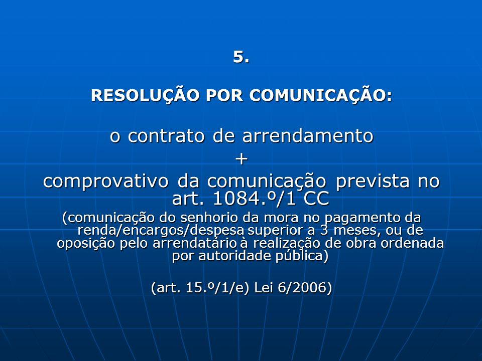 RESOLUÇÃO POR COMUNICAÇÃO: