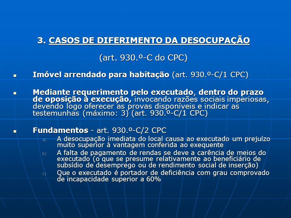 3. CASOS DE DIFERIMENTO DA DESOCUPAÇÃO