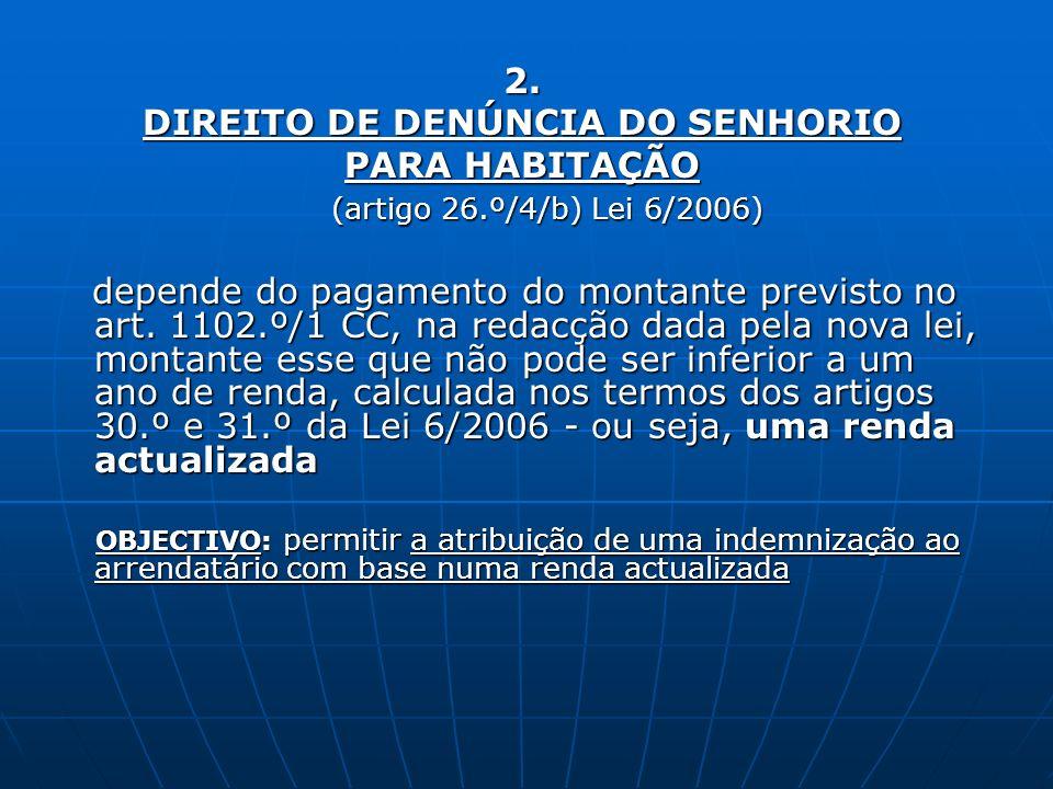 DIREITO DE DENÚNCIA DO SENHORIO