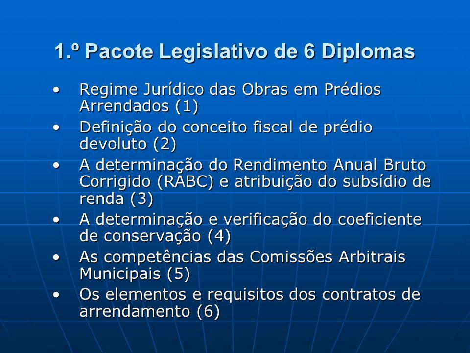 1.º Pacote Legislativo de 6 Diplomas