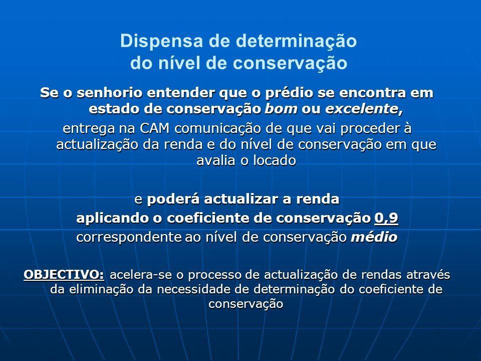 Dispensa de determinação do nível de conservação
