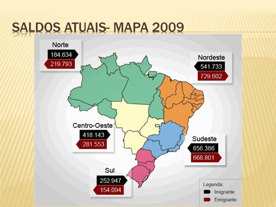 Saldos atuais- mapa 2009