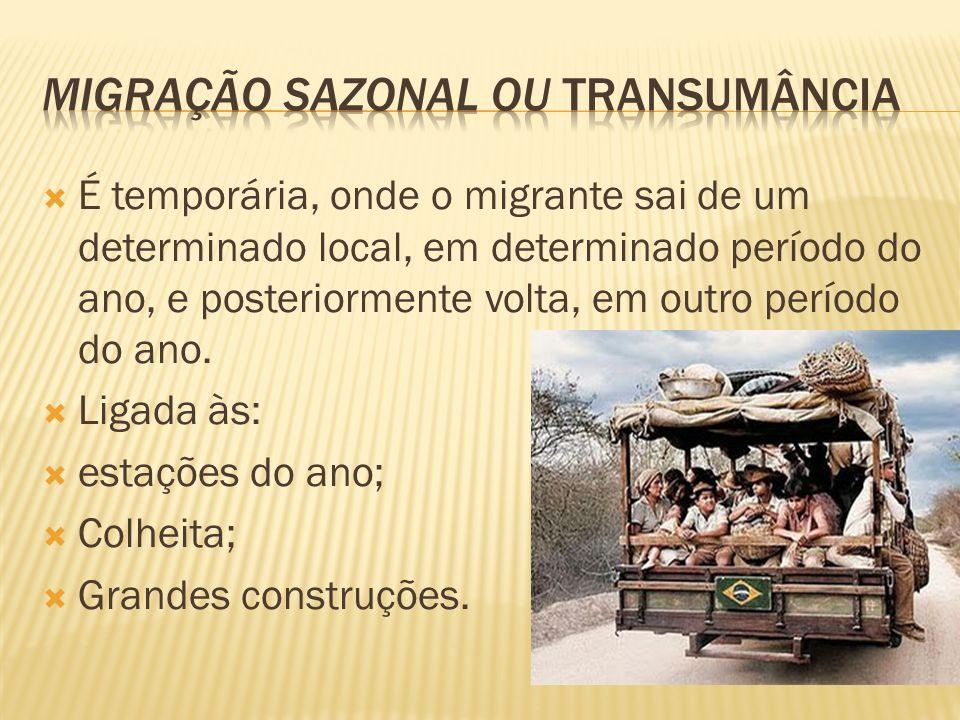 Migração sazonal ou transumância