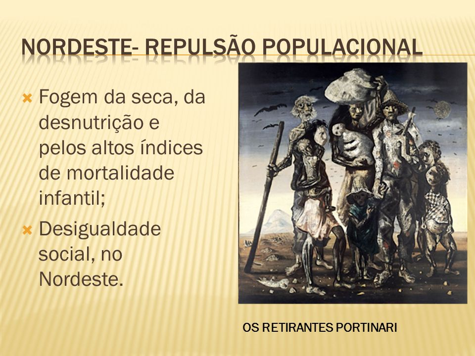 Nordeste- repulsão populacional