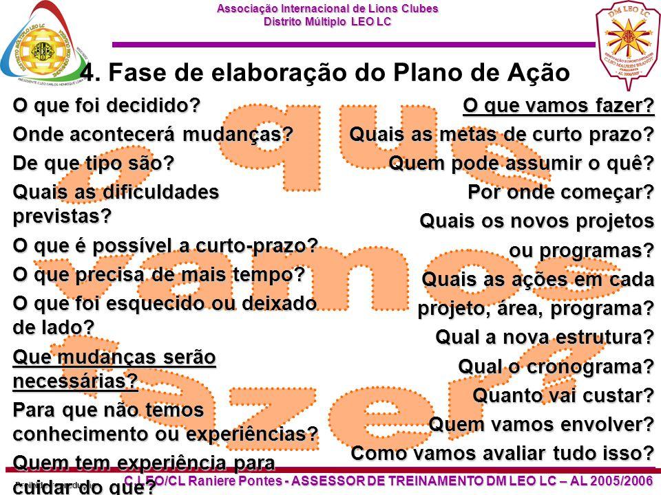 4. Fase de elaboração do Plano de Ação