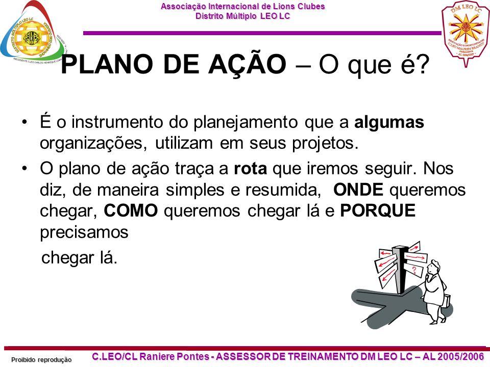 PLANO DE AÇÃO – O que é É o instrumento do planejamento que a algumas organizações, utilizam em seus projetos.