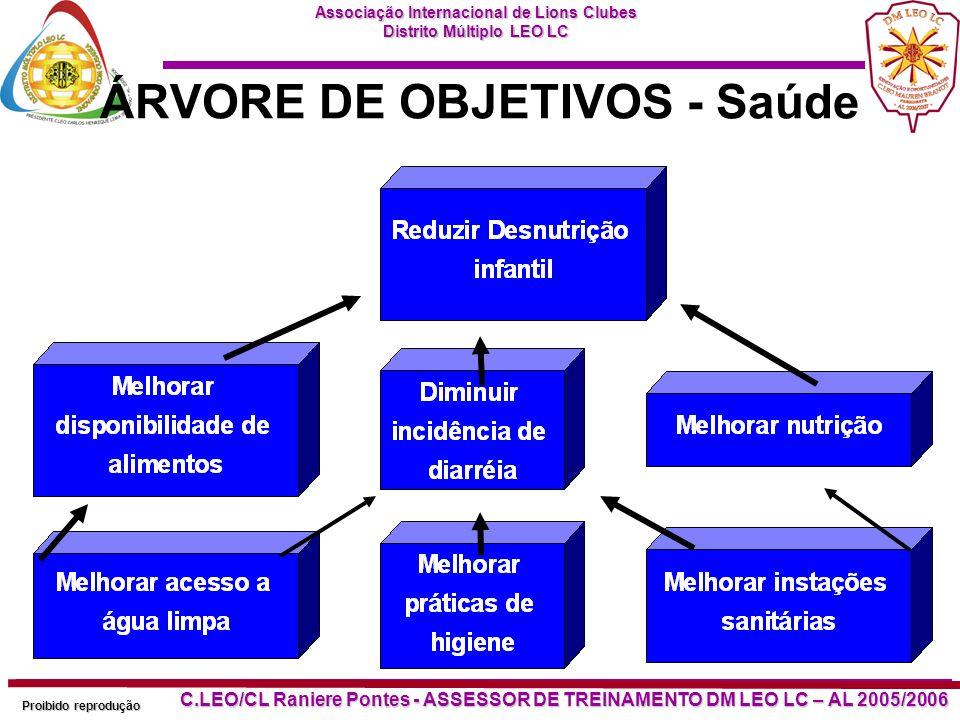 ÁRVORE DE OBJETIVOS - Saúde