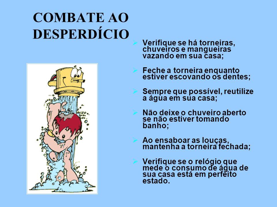COMBATE AO DESPERDÍCIO