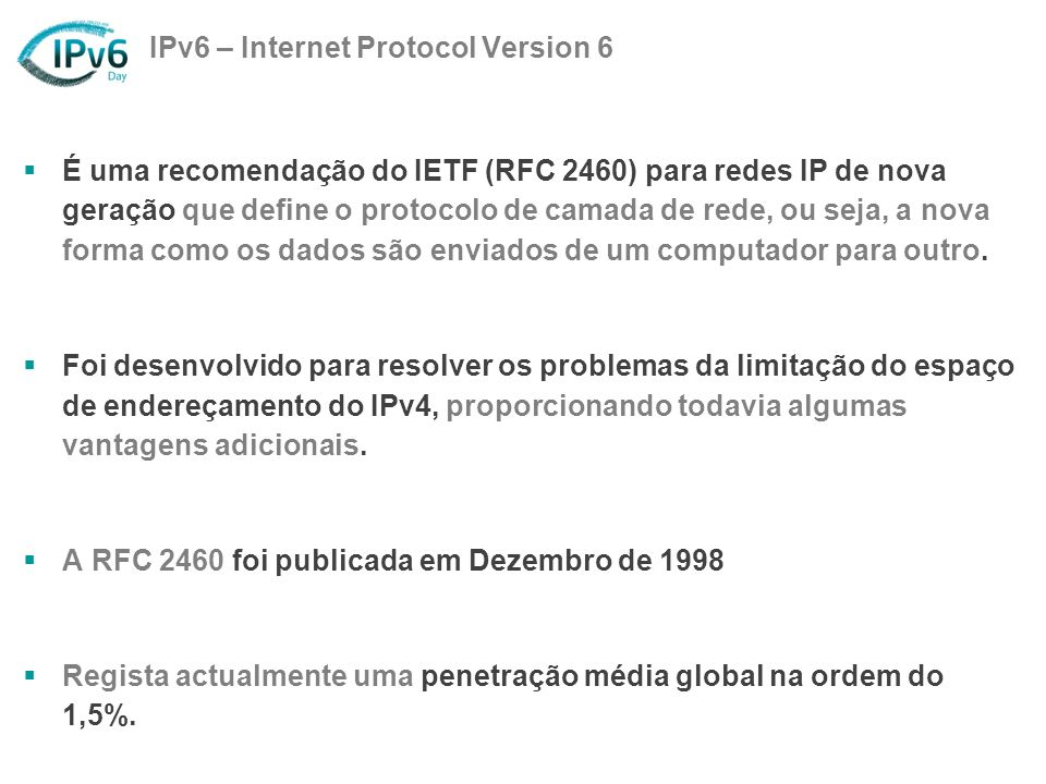 IPv6 – Internet Protocol Version 6