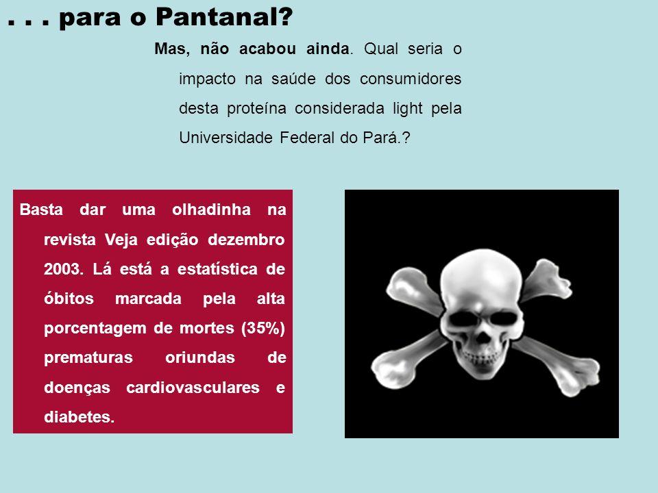 . . . para o Pantanal