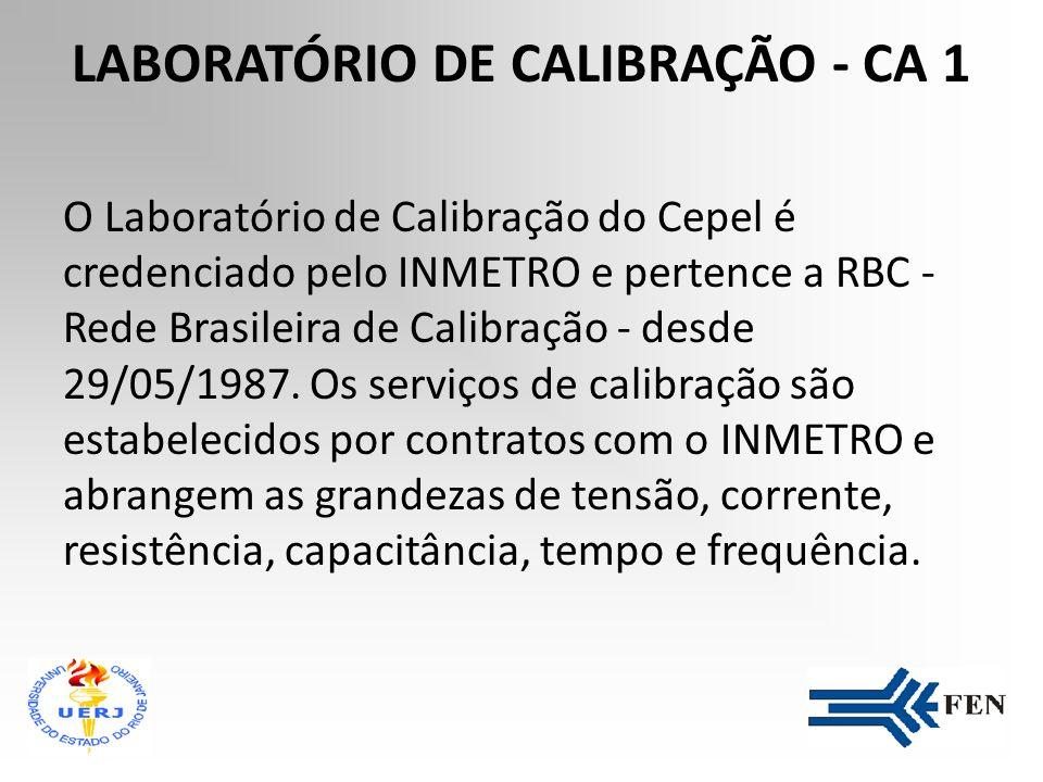 LABORATÓRIO DE CALIBRAÇÃO - CA 1