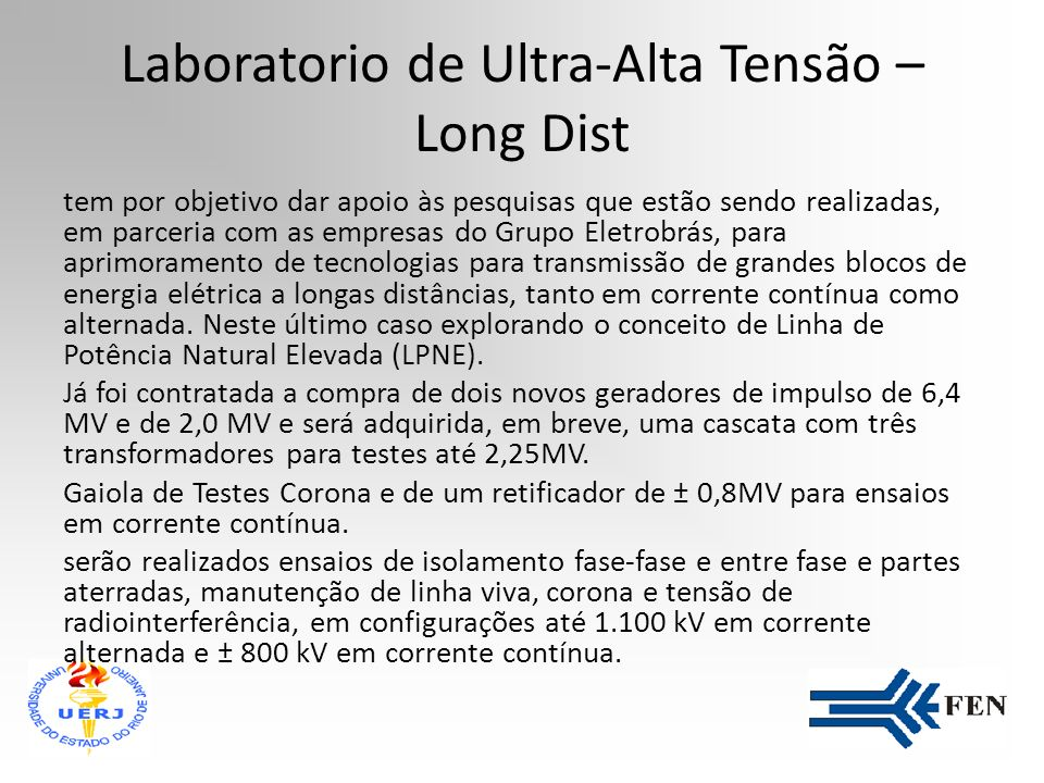 Laboratorio de Ultra-Alta Tensão – Long Dist