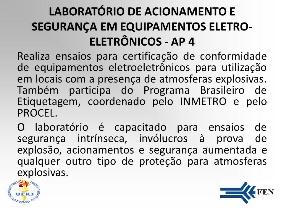 LABORATÓRIO DE ACIONAMENTO E SEGURANÇA EM EQUIPAMENTOS ELETRO-ELETRÔNICOS - AP 4