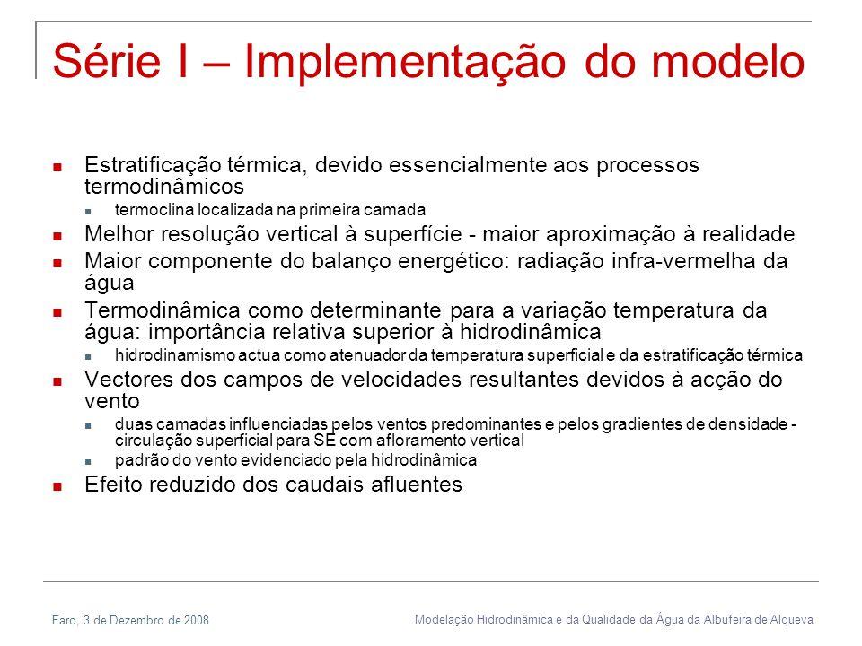 Série I – Implementação do modelo