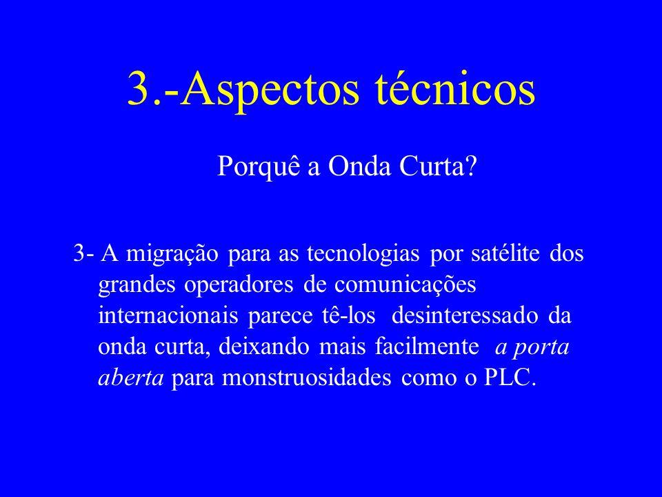 3.-Aspectos técnicos Porquê a Onda Curta