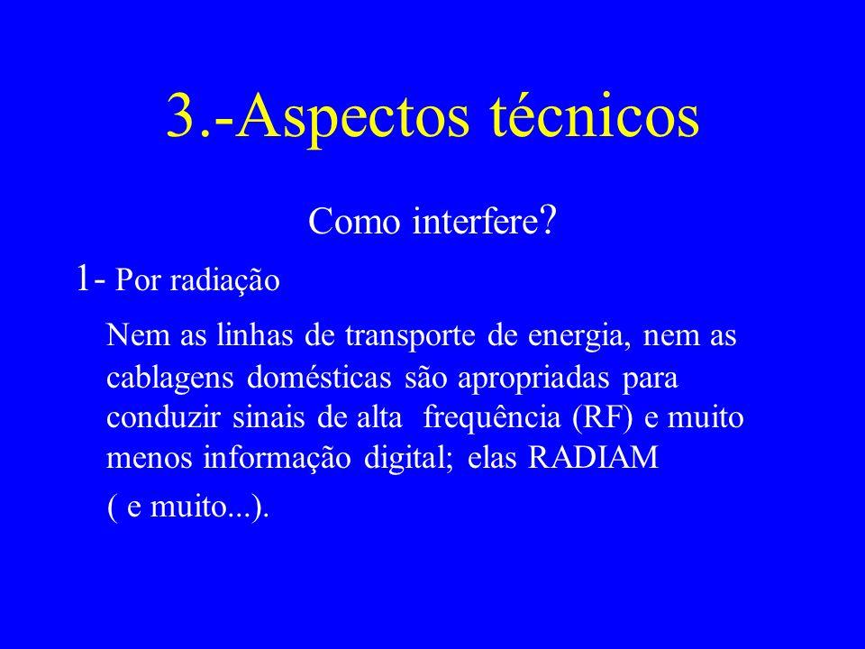 3.-Aspectos técnicos Como interfere 1- Por radiação