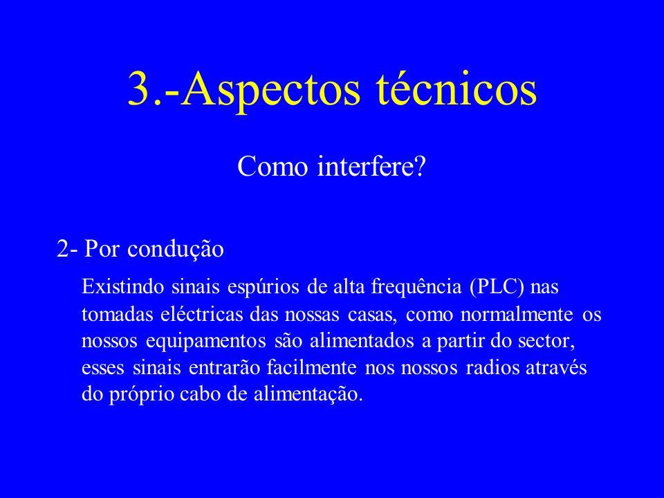 3.-Aspectos técnicos Como interfere 2- Por condução