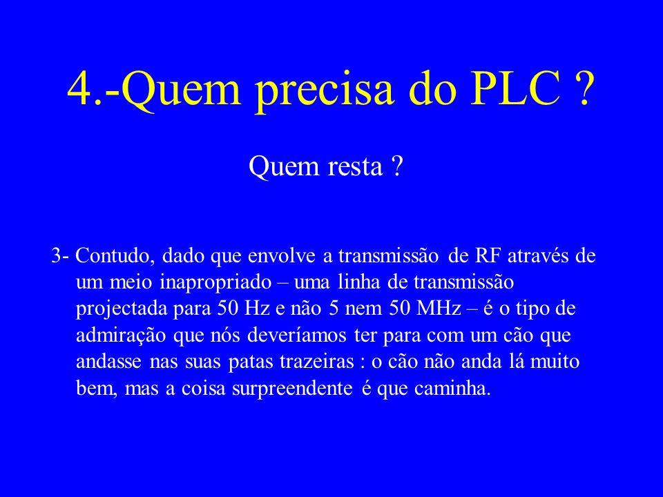 4.-Quem precisa do PLC Quem resta