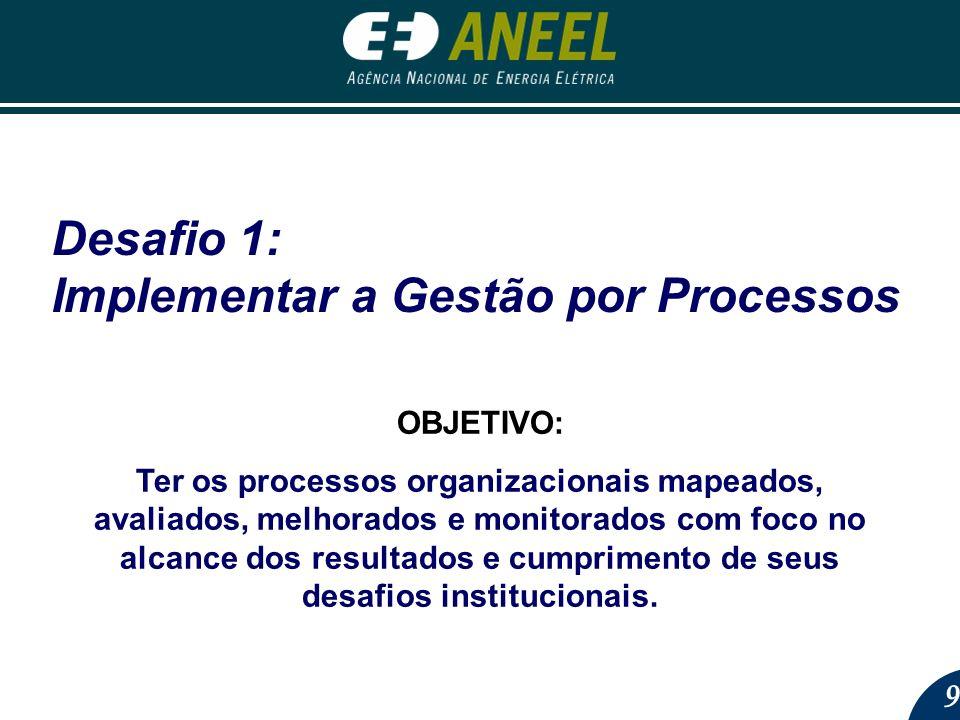 Desafio 1: Implementar a Gestão por Processos