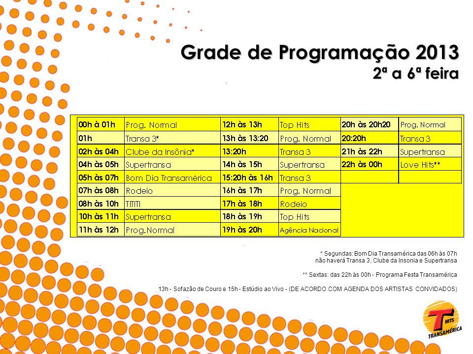 Grade de Programação 2013 2ª a 6ª feira