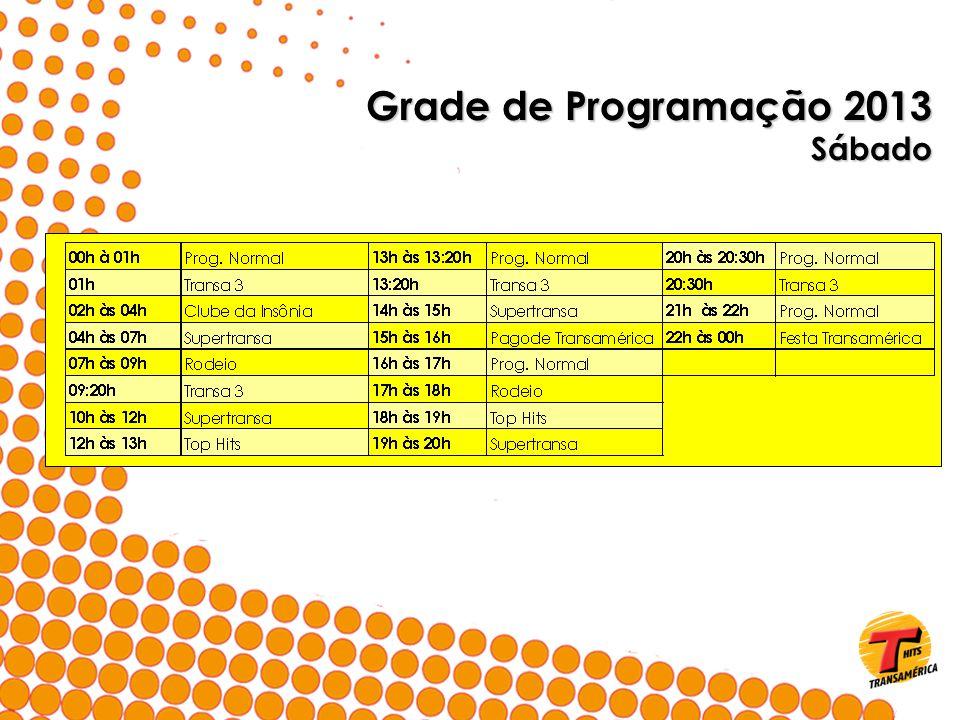 Grade de Programação 2013 Sábado