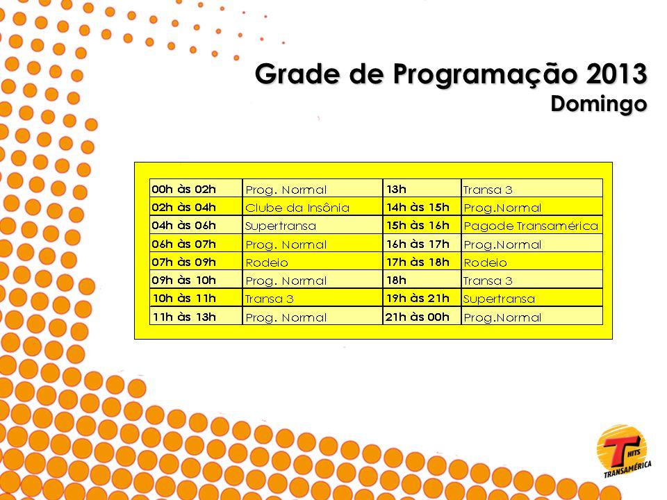 Grade de Programação 2013 Domingo