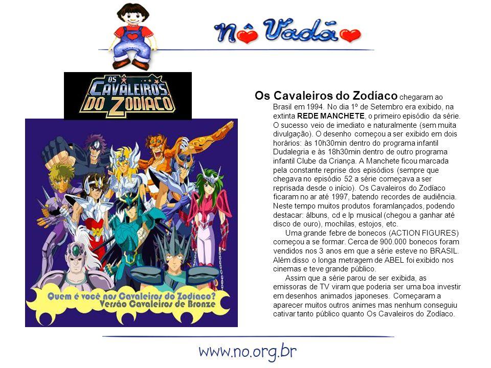 Os Cavaleiros do Zodíaco chegaram ao Brasil em 1994