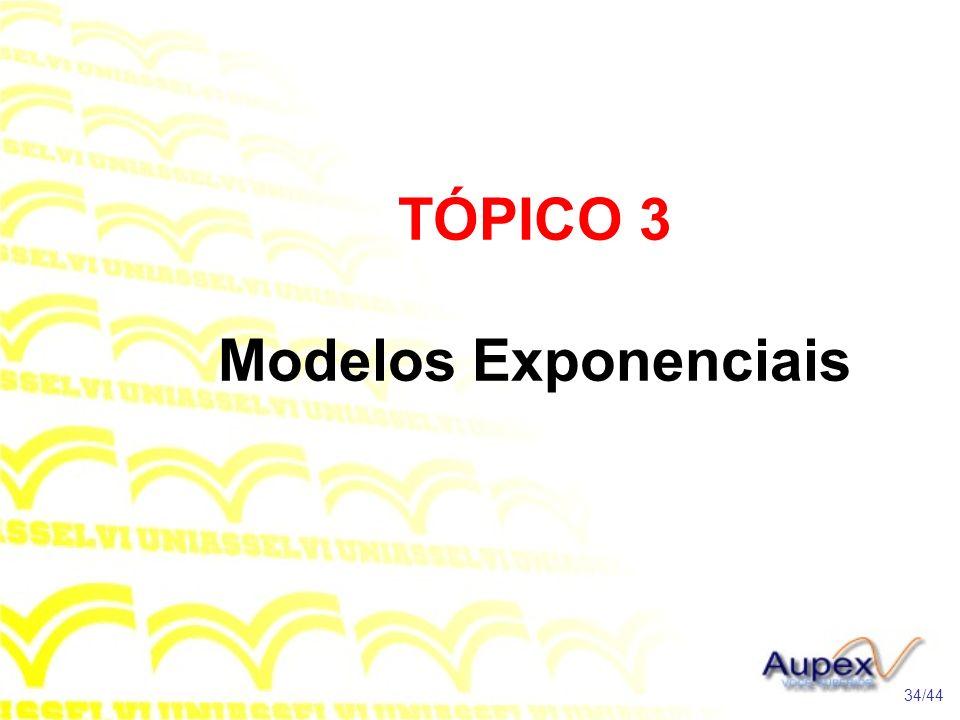 TÓPICO 3 Modelos Exponenciais