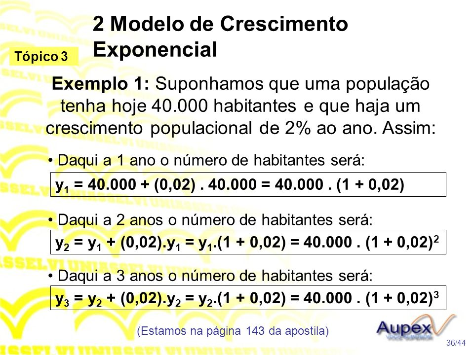 2 Modelo de Crescimento Exponencial