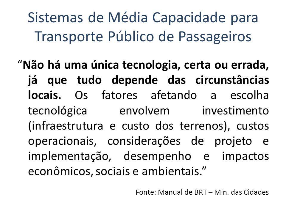 Sistemas de Média Capacidade para Transporte Público de Passageiros