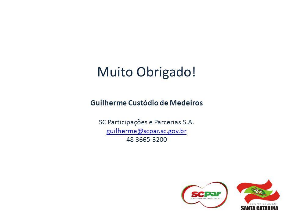 Muito Obrigado. Guilherme Custódio de Medeiros SC Participações e Parcerias S.A.