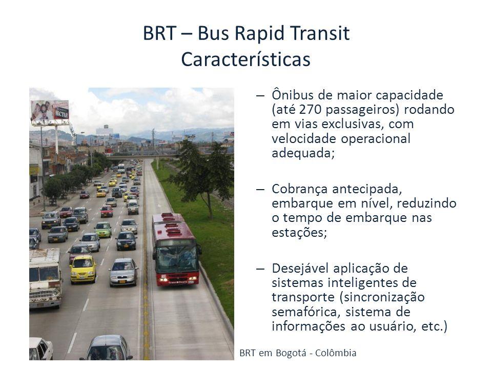BRT – Bus Rapid Transit Características