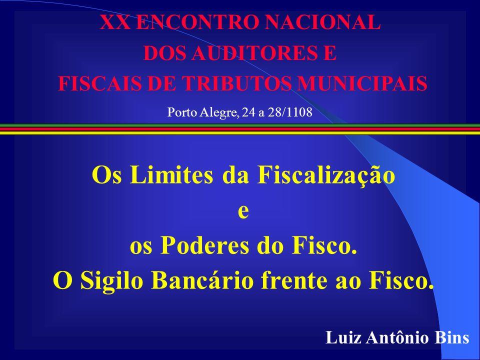 Os Limites da Fiscalização e os Poderes do Fisco.
