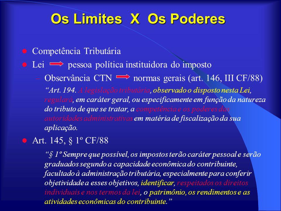 Os Limites X Os Poderes Competência Tributária