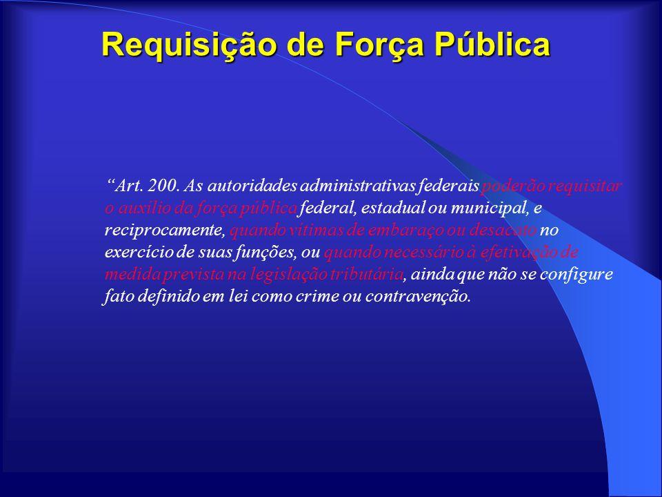 Requisição de Força Pública